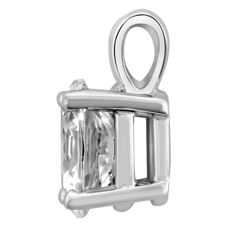 Profile view of PNO47 in white metal