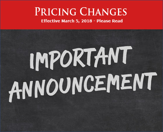 Price Increase Notice 2018